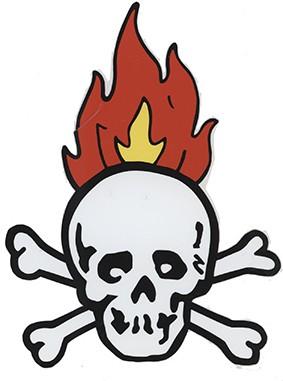 Totenkopf mit Flammen