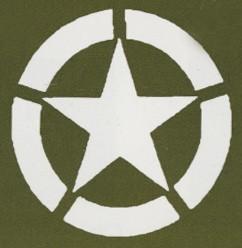 Militär Stern im unterbr. Kreis