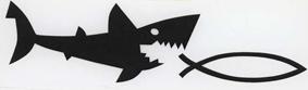 Hai frisst christlichen Fisch