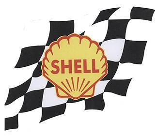 Shell mit Zielflagge