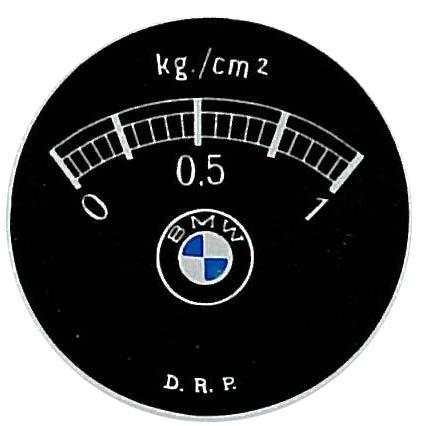BMW Dixie Bar-Anzeigeblatt