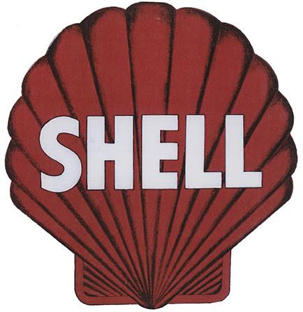 Shell rot weiß