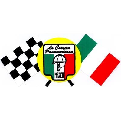 La Carrera Panamericana mit Flaggen