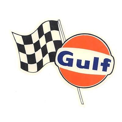 Gulf mit Zielflagge