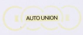 DKW Auto Union Ringe weiß