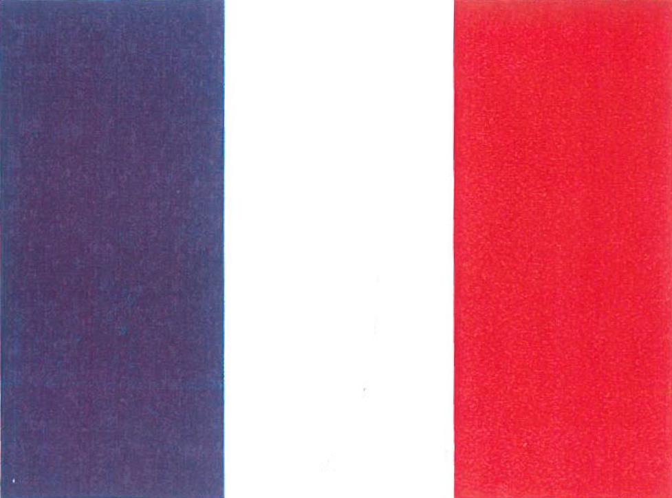 Nationalflagge Frankreich
