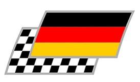 Deutschland Zielflaggen Paar