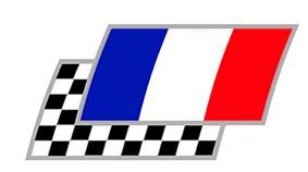 Frankreich Zielflaggen Paar