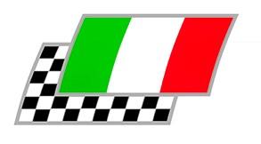 Italien Zielflaggen Paar