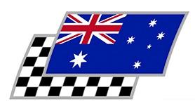 Australien Zielflaggen Paar