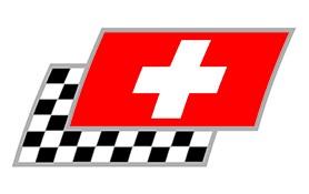 Schweiz Zielflaggen Paar