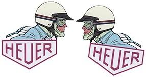 Heuer mit Helm