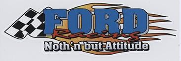 Ford Racing  Flammen Zielflagge