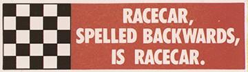 Racecar spelled...