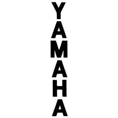Yamaha Schriftzug vertikal