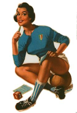 Pin Up Fußball Italien