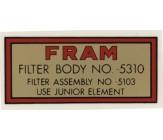 Militär Benzinfilter FRAM