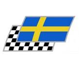 Schweden Zielflaggen Paar