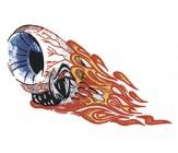 Auge mit Flammen