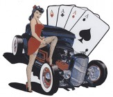Hot Rod Pin Up  4 Asse, Aces