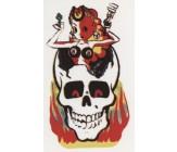 Lady Luck Totenkopf Flammen