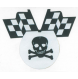 Totenkopf mit Flaggen