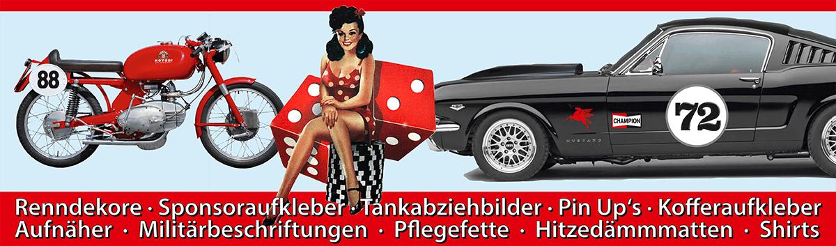 Historiclassic Kfz Auto Motorrad Oldtimer Aufkleber